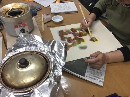 蝋置き レザークラフト教室 革工芸教室