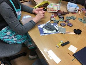 コサージュ作り レザークラフト教室 革工芸教室