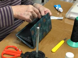 財布 レザークラフト教室 革工芸教室