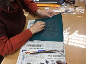 特別レッスン着色 レザークラフト教室 革工芸教室