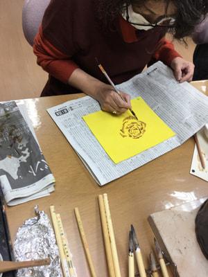 ろうけつ染め 蝋かすり レザークラフト教室 革工芸教室