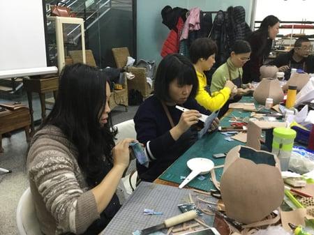 北京講習造形−5 レザークラフト教室 革工芸教室