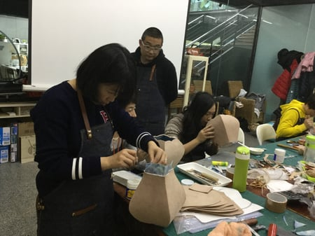 北京講習造形−6 レザークラフト教室 革工芸教室