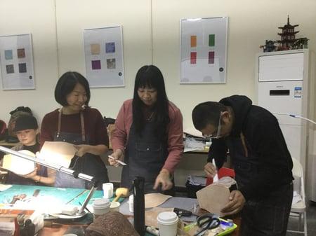 北京講習造形−7 レザークラフト教室 革工芸教室