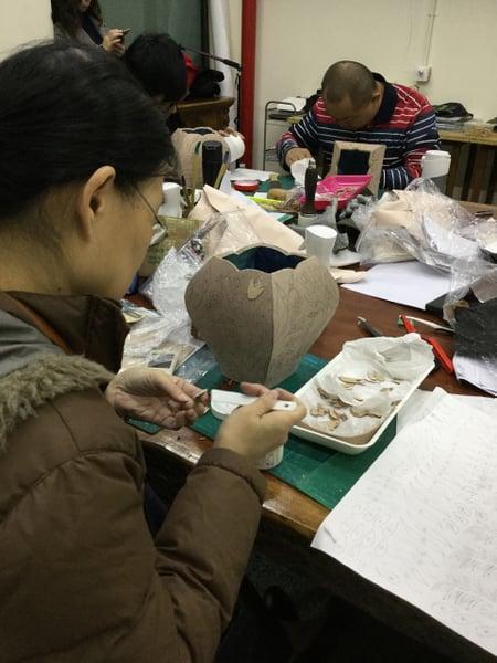立体造形模様付け レザークラフト教室 革工芸教室