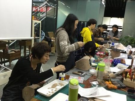 立体造形模様付け−2 レザークラフト教室 革工芸教室
