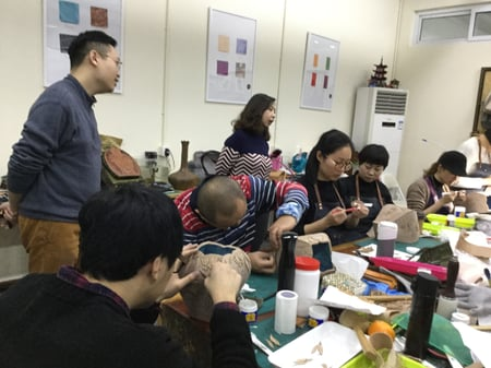 立体造形模様付け−4 レザークラフト教室 革工芸教室