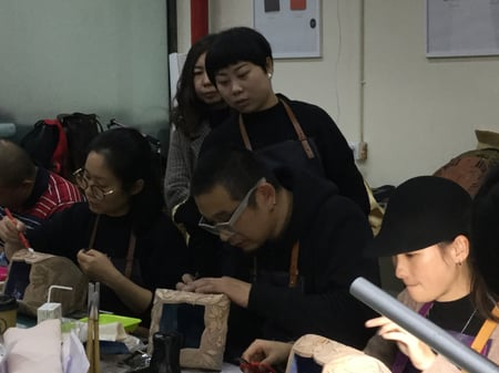 立体造形模様付け−5 レザークラフト教室 革工芸教室