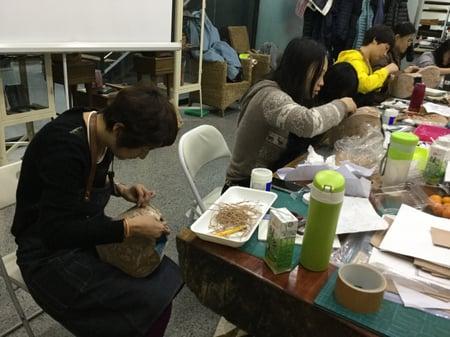 立体造形模様付け−6 レザークラフト教室 革工芸教室