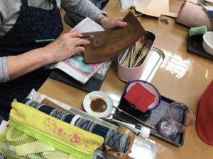 表札 レザークラフト教室 革工芸教室