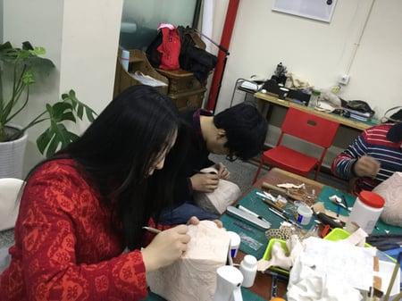 北京講習4日目 レザークラフト教室 革工芸教室