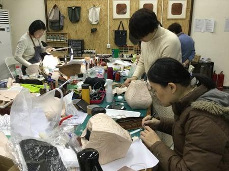 北京講習4日目−2 レザークラフト教室 革工芸教室