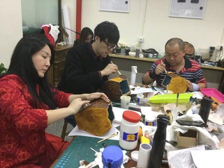 北京講習4日目−4 レザークラフト教室 革工芸教室