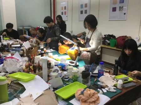 北京講習4日目−3 レザークラフト教室 革工芸教室