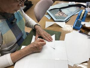 型紙製作 レザークラフト教室 革工芸教室