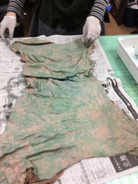 しぼり染め レザークラフト教室 革工芸教室