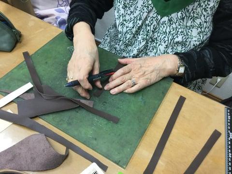 バッグ引き手 レザークラフト教室 革工芸教室
