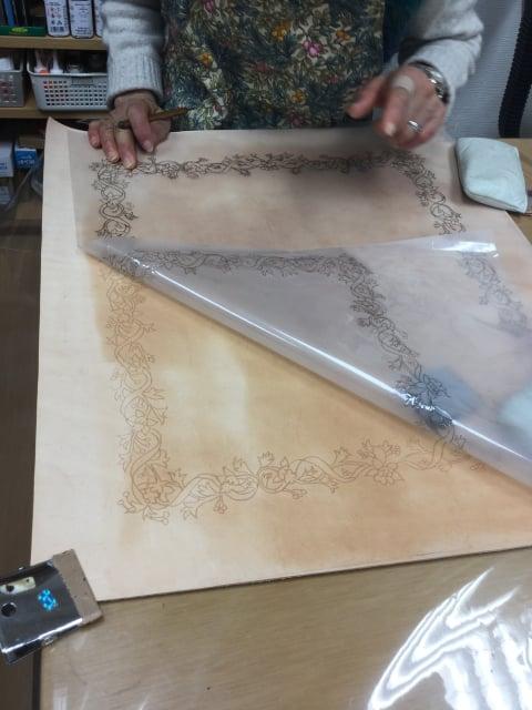 革にトレス レザークラフト教室 革工芸教室