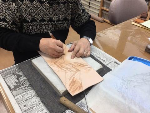 ブックカバー レザークラフト教室 革工芸教室