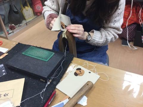 手縫い レザークラフト教室 革工芸教室