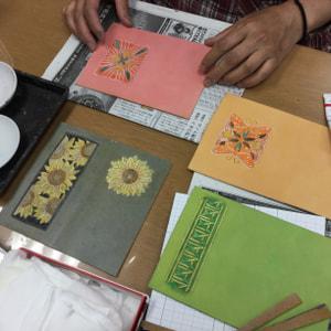 小物染色 レザークラフト教室 革工芸教室
