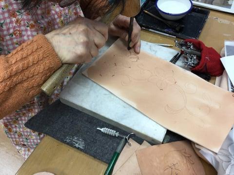 ゴートカービング レザークラフト教室 革工芸教室
