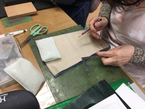 リュック仕立て レザークラフト教室 革工芸教室