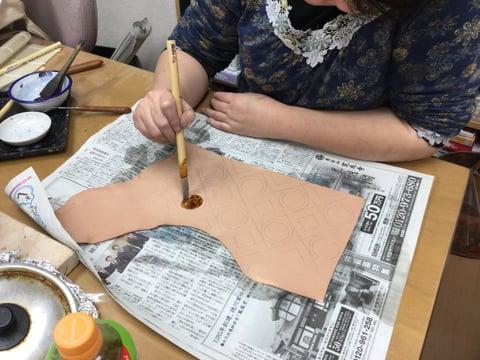 ロウ置き レザークラフト教室 革工芸教室