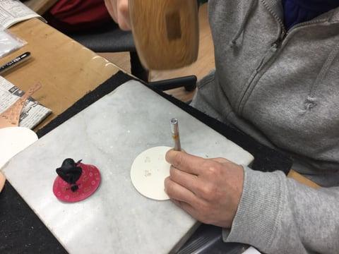 雛人形染色 レザークラフト教室 革芸教室