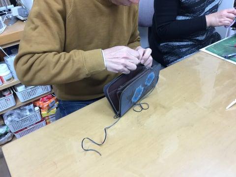 ダブルかがり レザークラフト教室 革工芸教室