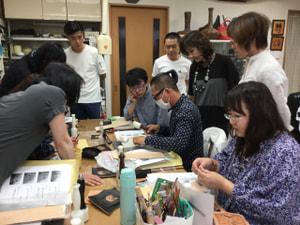 講習会風景 レザークラフト教室 革工芸教室