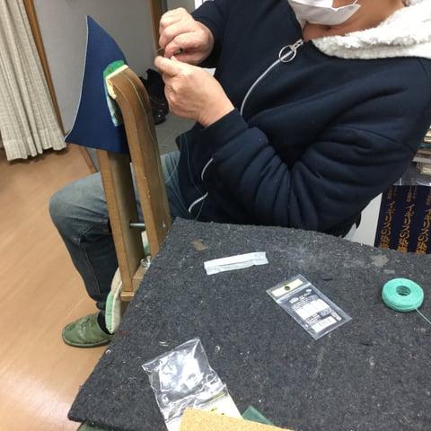 ワンポイント手縫い レザークラフト教室 革工芸教室
