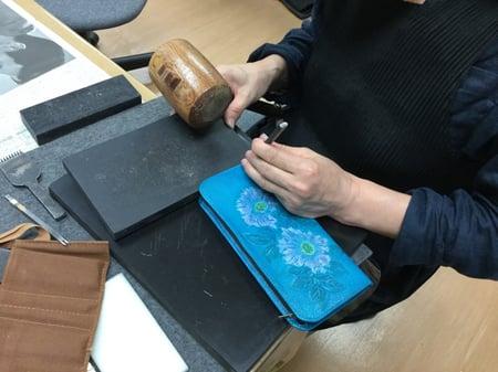 初等科作品 レザークラフト教室 革工芸教室