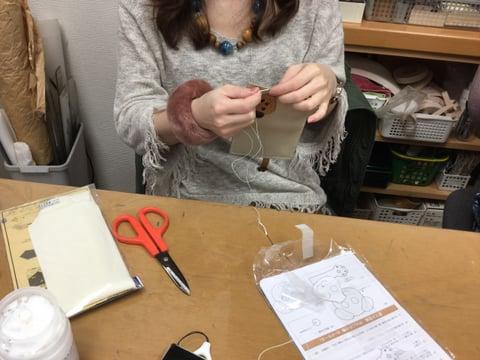 干支のパス入れ レザークラフト 教室 革工芸教室