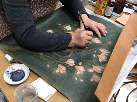 クラフト染色仕上げ レザークラフト 教室 革工芸教室