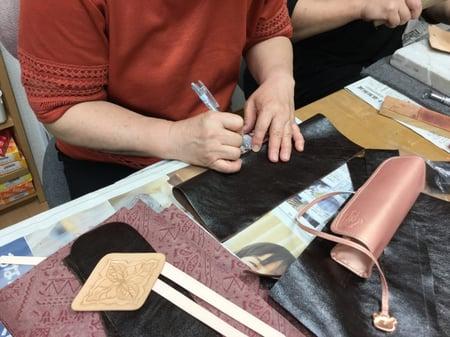 袋物 レザークラフト教室 革工芸教室