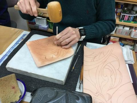 ベベリング レザークラフト 教室 革工芸教室