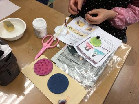 革のお雛様 レザークラフト 教室 革工芸教室
