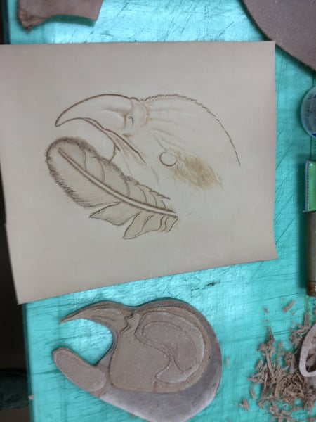 パッキング土台 レザークラフト教室 革工芸教室