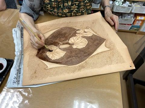 革絵 レザークラフト教室 革工芸教室
