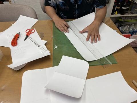 型紙作り レザークラフト教室 革工芸教室