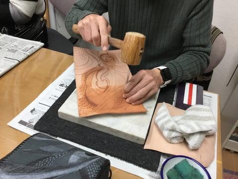 バッグスタンピング レザークラフト 教室 革工芸教室