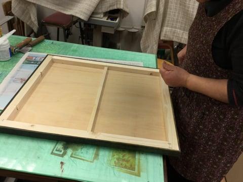 パネル貼り込み レザークラフト 教室 革工芸教室