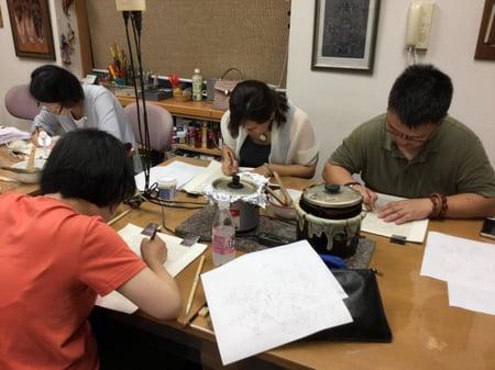 図案写し レザークラフト教室 革工芸教室