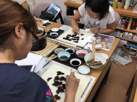 実の染色 レザークラフト教室 革工芸教室