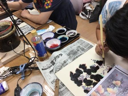 実のろう置き レザークラフト教室 革工芸教室