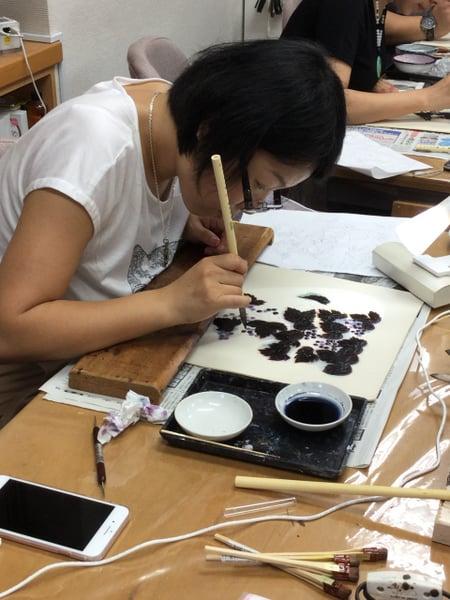 実のろう置き−3 レザークラフト教室 革工芸教室