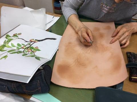 革絵 レザークラフト 教室 革工芸教室