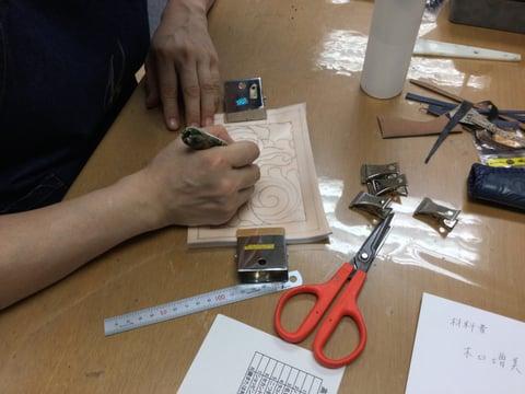 名刺入れ レザークラフト 教室 革工芸教室
