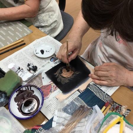 アンティーク レザークラフト教室 革工芸教室